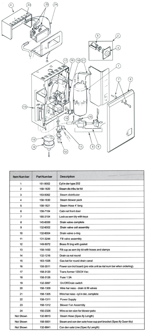 Nortec RESDELUX Humidifier Parts