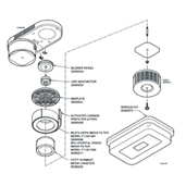 Honeywell F114 Ceiling Mounted Air Cleaner Parts