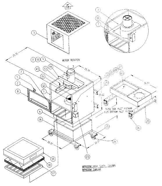 Trion MP600M Air Boss Air Cleaner Parts