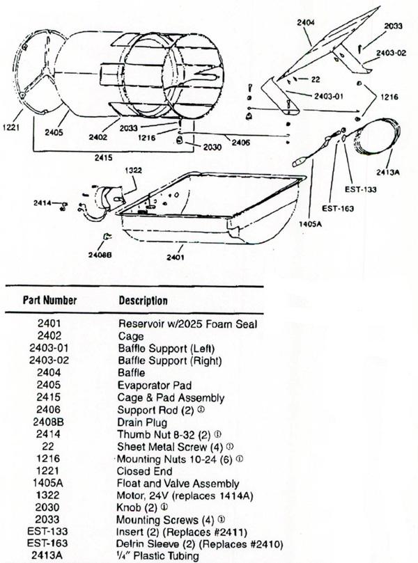 Herrmidifier 1400 Humidifier Parts