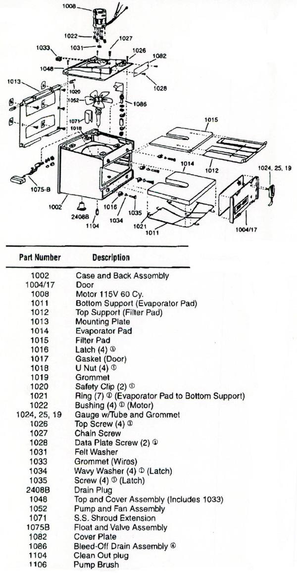 Herrmidifier 490-6 Humidifier Parts