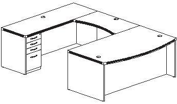 U Shaped Desk Plans PDF Woodworking