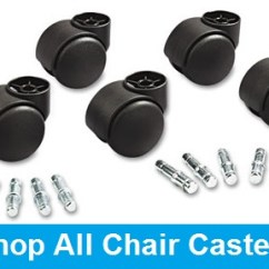 Office Chair Replacement Wheels Rocking Papasan Caster Guide Ontimesupplies Com How To Replace Your Casters