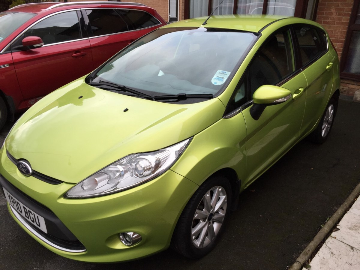 2010 Ford Fiesta Zetec 1.25 5d Squeeze Metallic Green, £6500 £6295 £6095 – For Sale SOLD