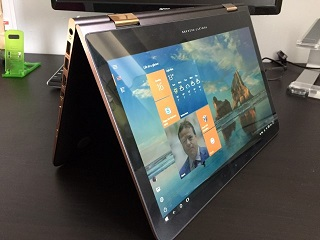 Spectre x360 in tablet mode