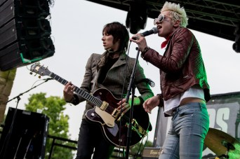 Palaye Royale performing at the Gas Monkey Bar and Grill in Dallas, TX on May 22nd, 2017.