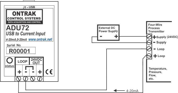 ADU72 USB to Current Input Interface ( 0-20mA, 4-20mA