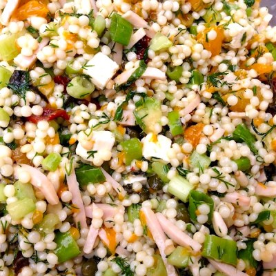 Salade van parelcouscous 1_ontroerendlekker.nl