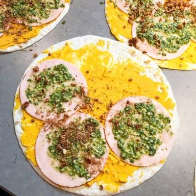 Wraps met hummus pesto en kipfilet_ontroerendlekker.nl