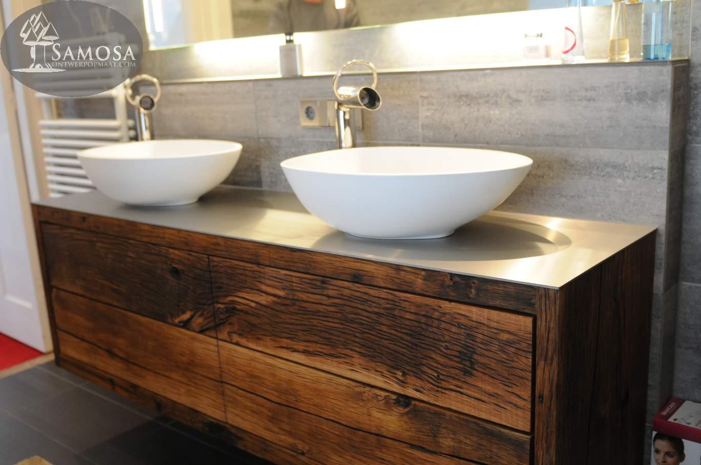 Samosa  Ontwerp op Maat Uniek badkamer meubel  Samosa