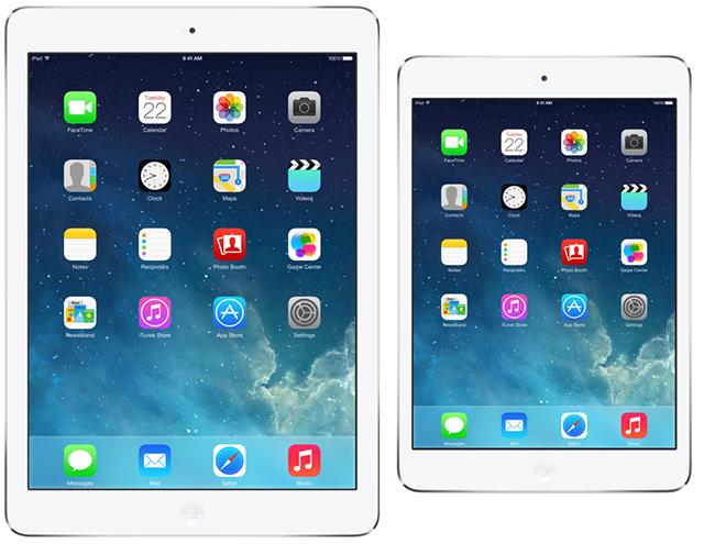iPad Air vs. iPad Mini 2 Retina