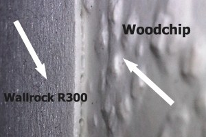 wallrock r300 covering woodchip