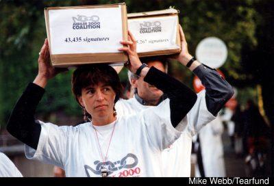 Jubilee 2000 coalition petitions.