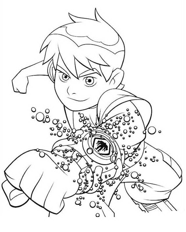 Disegni di Ben 10 da scaricare gratis, stampare e colorare