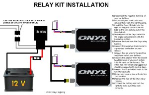Relay HID Conversion Kit Installation Guide  Single Filament With Relay   Onyx Performance Lights