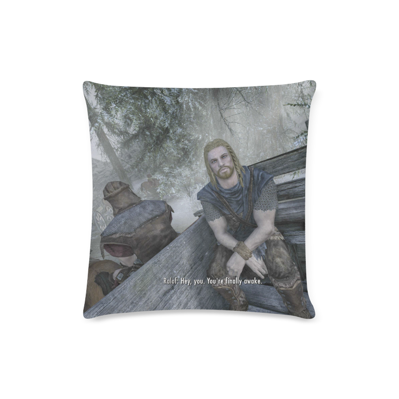skyrim pillow case hey you you re finally awake