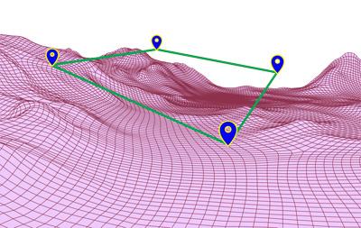 UAV topography navigation for LiDAR survey