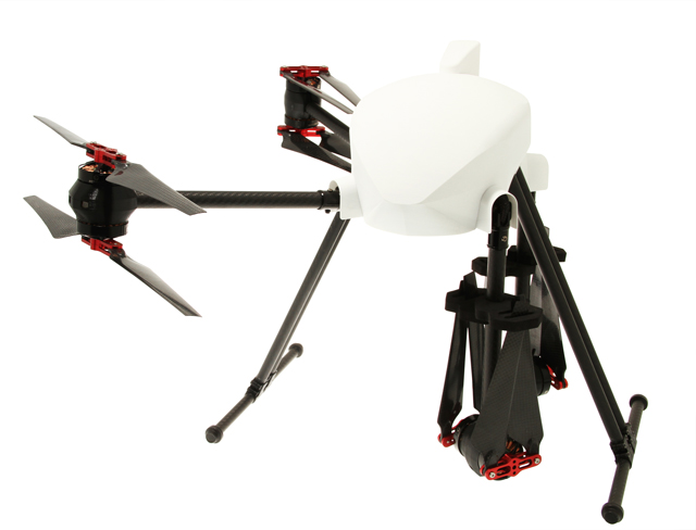 onyxstar xena 8f coax foldable pliable drone uav uas half folded - XENA