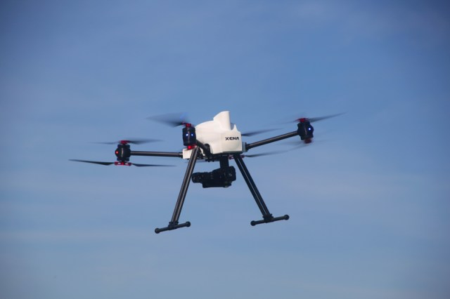 Drone thermal imagery - UAV thermography: Xena foldable UAV