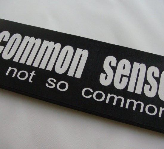 Common Sense Is Not So Common - Image Copyright OnyxTruth.Com