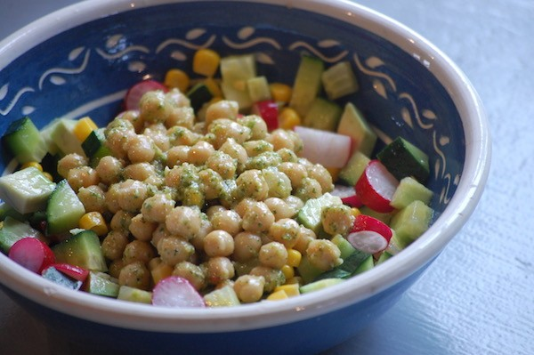 Thaise kikkererwten salade