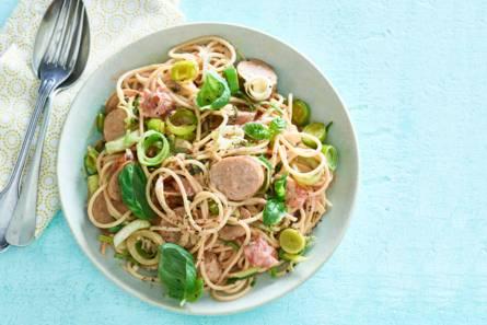 Spaghetti met romige preisaus
