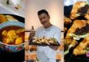 Celebrity Ah Ge Li Nanxing offers Hae Bee Hiam Croissant & Curry Chicken at Bakers & Co., Taste Gourmet Market