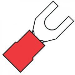 10 stuks kabelschoenvork 4 mm rood