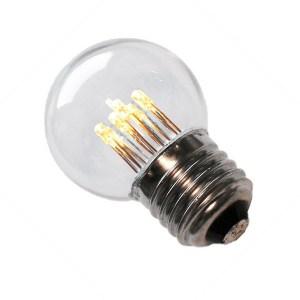Led deco kogellamp e27 1w 45mm helder