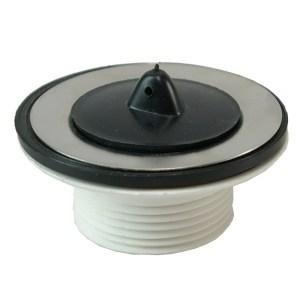 losse kunststof plug+kett. 5/4''x60mm wit