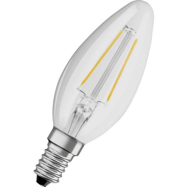 Osram LED kaarslamp E14 2,8W warm wit vervangt 25W dimbaar