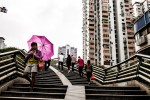 the city and the umbrella Guangzhou China