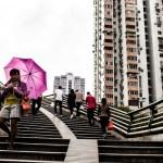 the city and the umbrella Guangzhou China