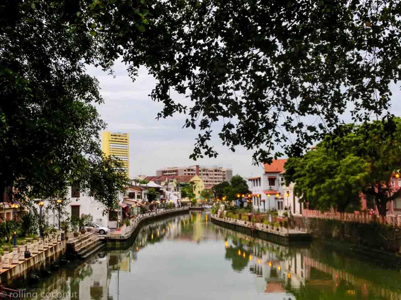 Canal view in Melaka