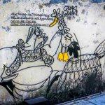 chicken alley street art georgetown malaysia