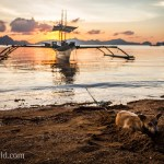 Dog Beach Sunset El Nido Palawan Philippines