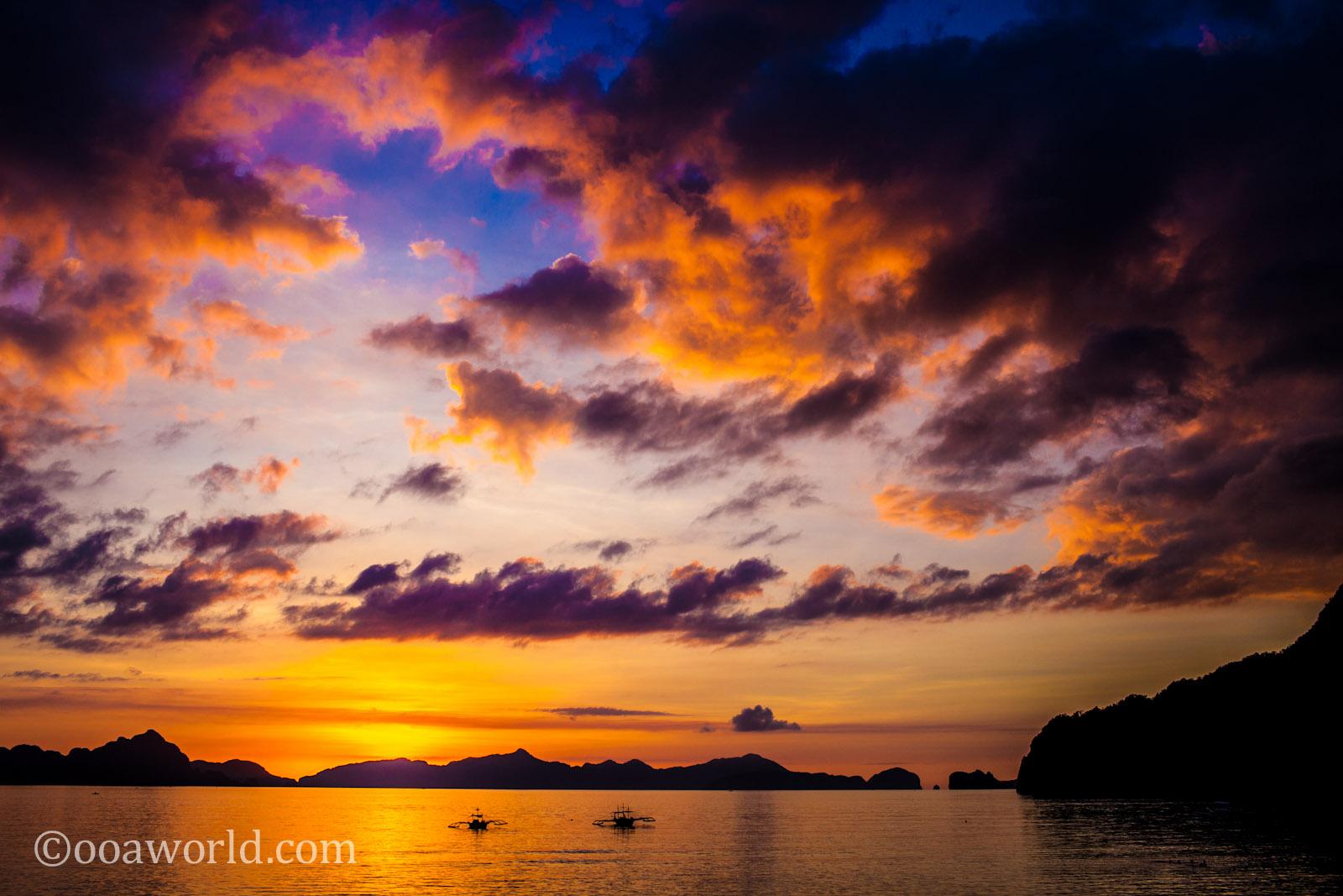 El Nido Sunset Palawan Philippines 3