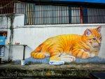 Cat mural street art Georgetown Malaysia