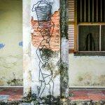 laundry man street art georgetown malaysia