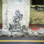running man street art georgetown malaysia,