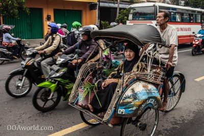 Photo Becak Jogja Indonesia Ooaworld
