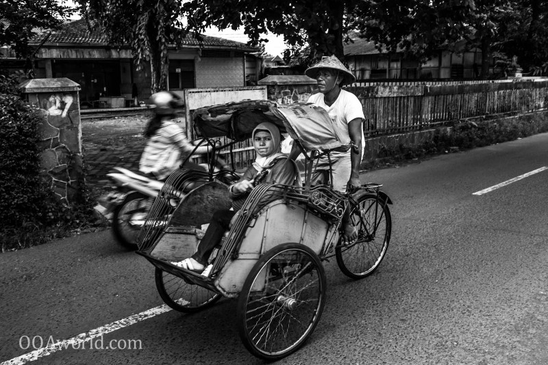 Photo Jogja Becak Indonesia Ooaworld