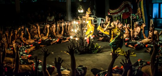 Kecake Fire Dance Rising Hands Ubud Bali Indonesia photo Ooaworld