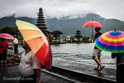 Pura Ulun Danu Bratan Color Umbrellas photo Ooaworld