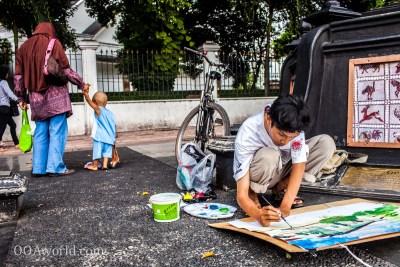 Photo Street Artist Jogja Indonesia Ooaworld