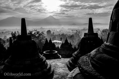 Photo Sunrise Borubudur Indonesia Ooaworld