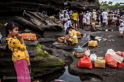 Tanah Lot Moon Girl photo OOAWORLD