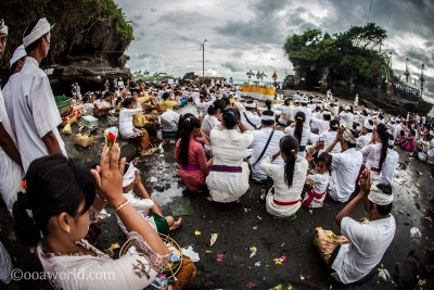 Tanah Lot Prayer Bali photo OOAWORLD