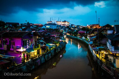 Photo Yogyakarta Indonesia Night River View Ooaworld