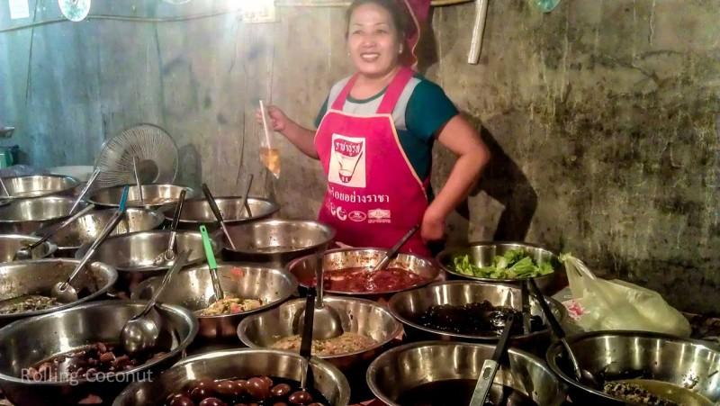 Food Market Luang Prabang Laos Rolling Coconut Ooaworld Photo Ooaworld